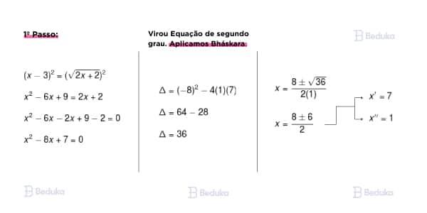 resoluçao exercicio resolvido de exemplo de equaçao irracional