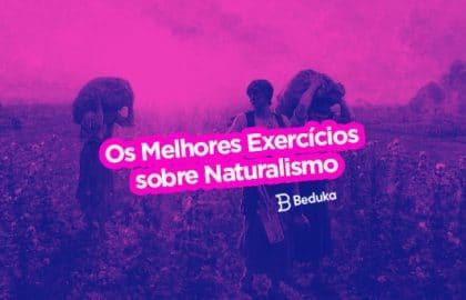 Exercícios sobre Naturalismo