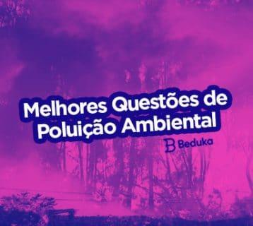 Questões sobre poluição ambiental